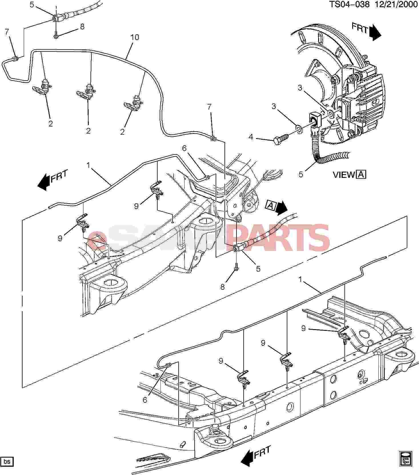 Gmc Envoy Parts Diagram Esaabparts Saab 9 7x Brakes Parts