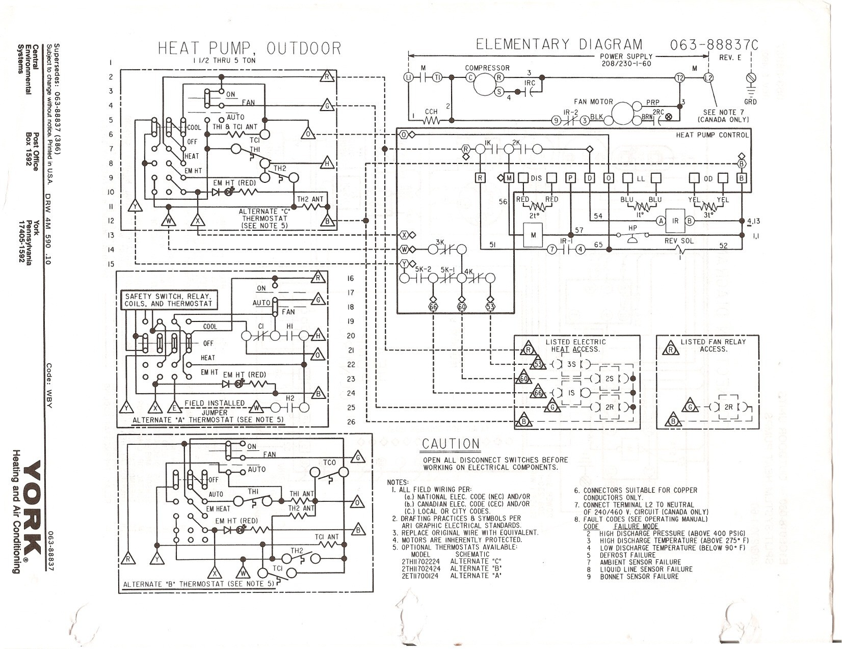 goodman heat pump wiring diagram thermostat furnas drum switch my