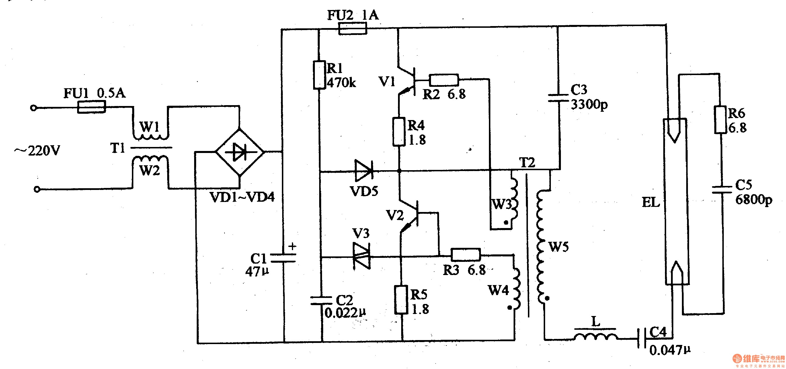 High Pressure sodium Ballast Wiring Diagram Electronic