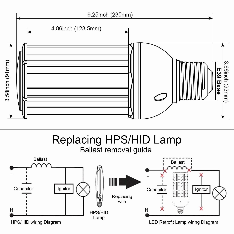 high pressure sodium ballast wiring diagram pj trailer plug my