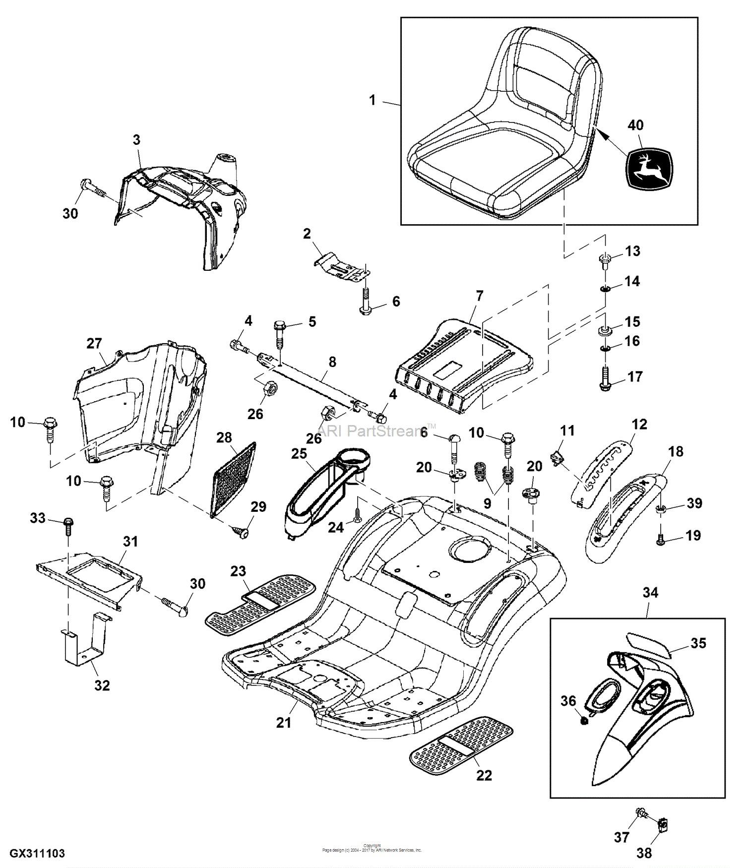 John Deere L118 Parts Diagram