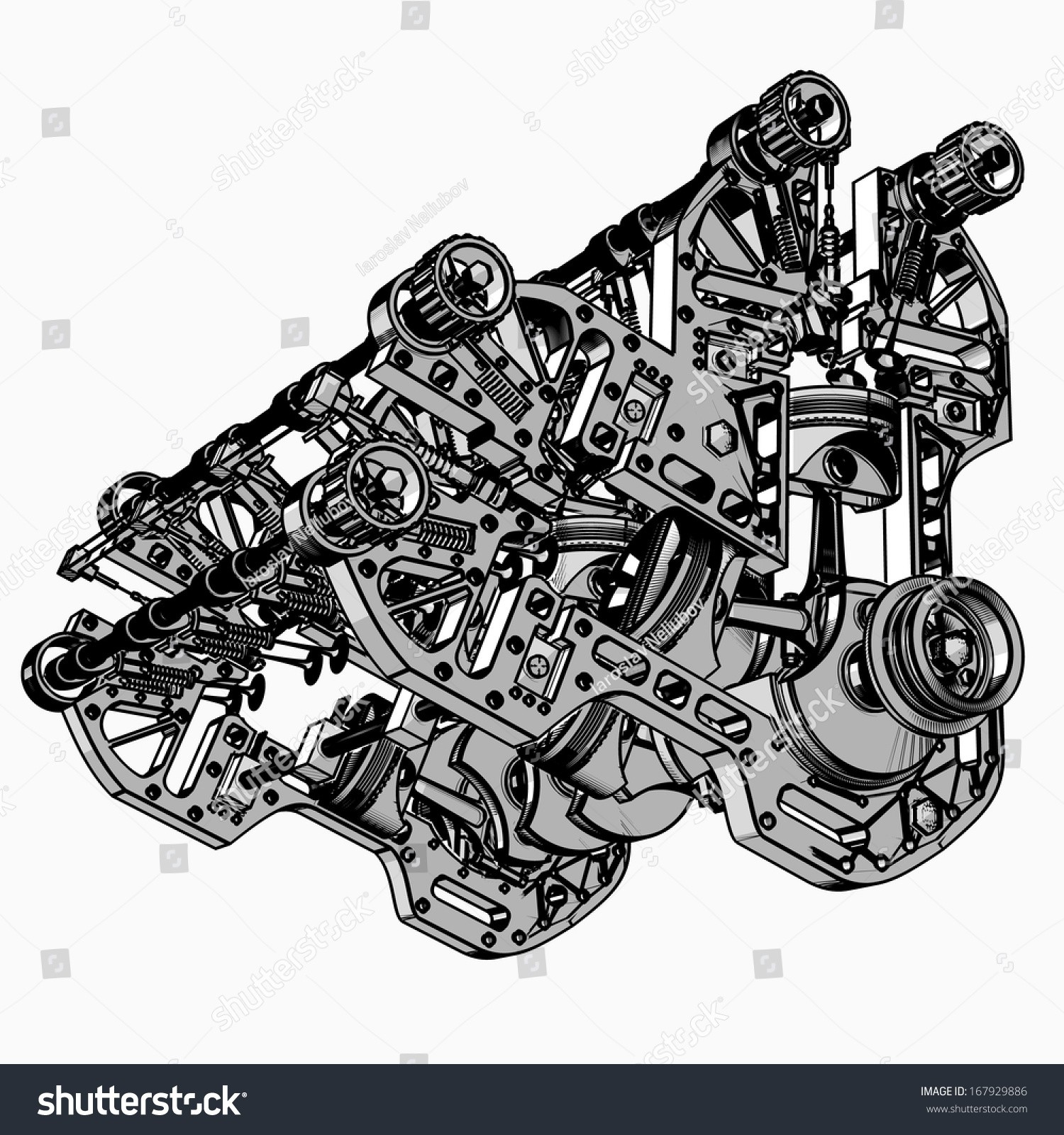 hight resolution of animated v8 engine diagram v 8 car engine black white drawing stock boxer engine animation v8