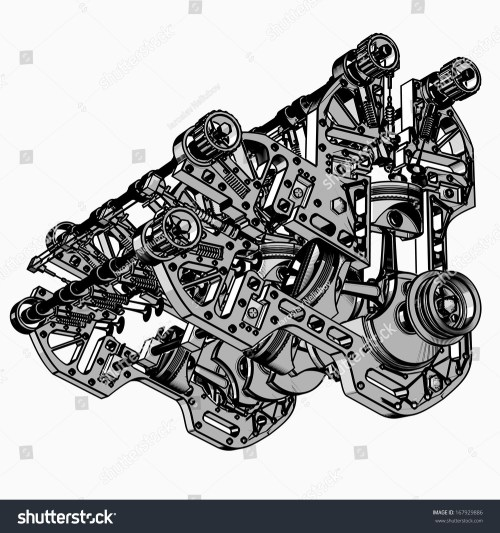 small resolution of animated v8 engine diagram v 8 car engine black white drawing stock boxer engine animation v8