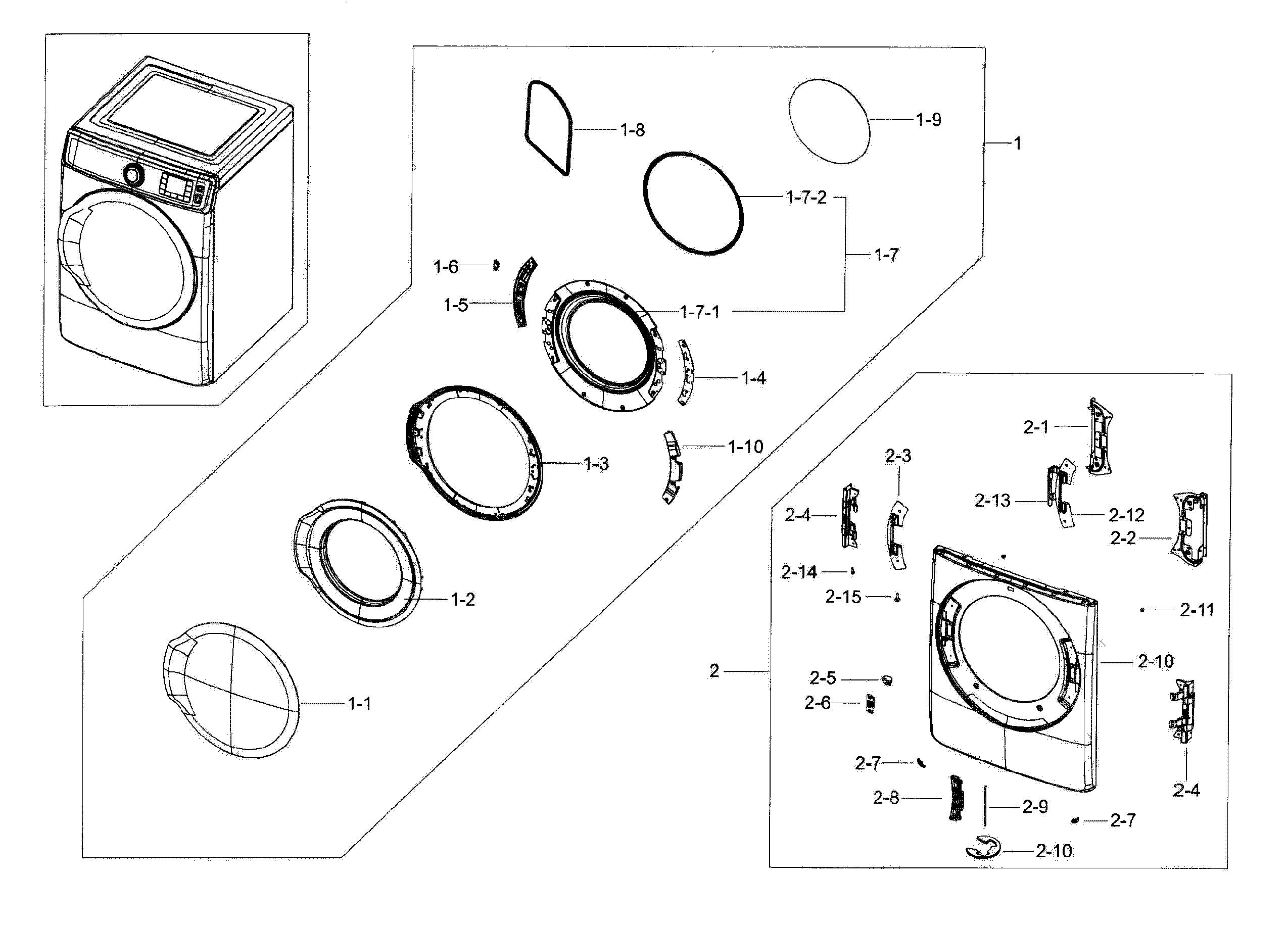 Dyson Animal Parts Diagram Samsung Model Dv56h9100eg A2