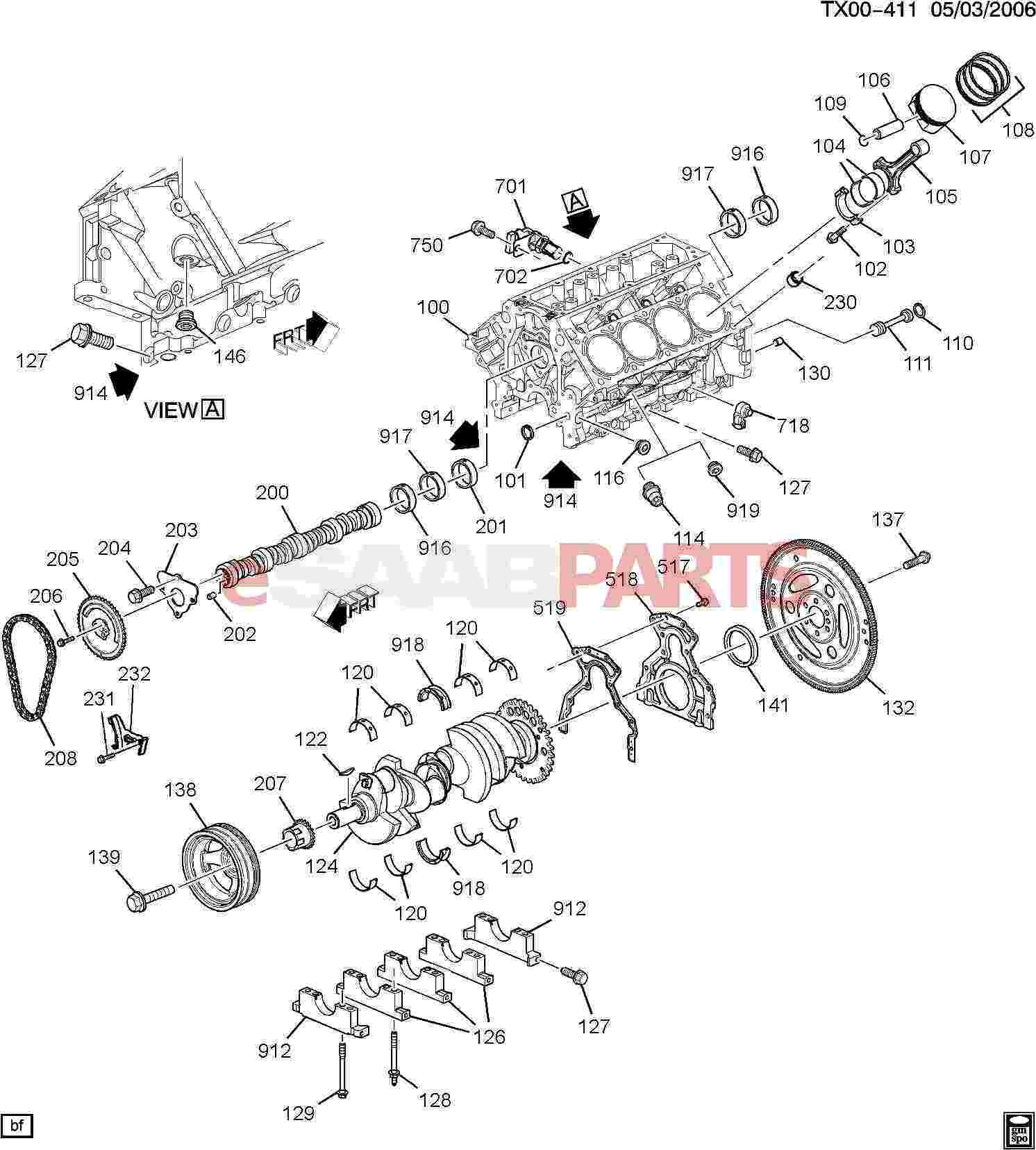 Engine Block Parts Diagram