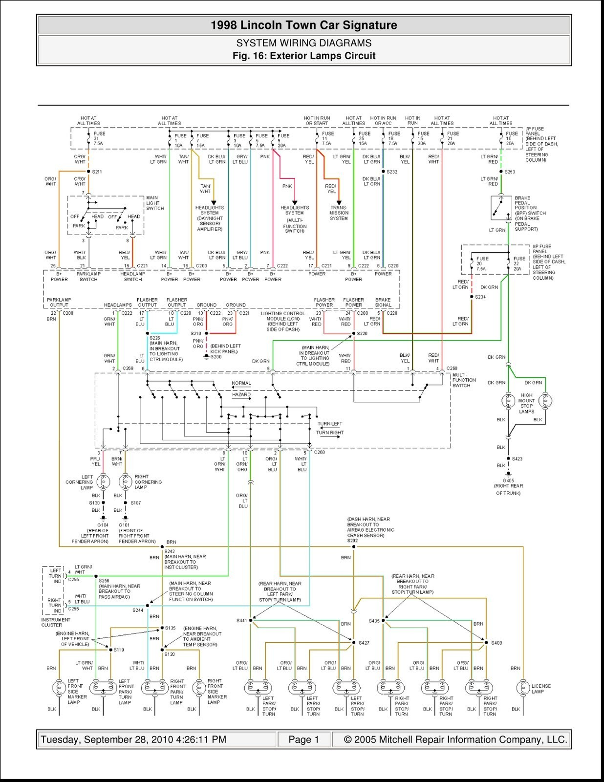 lincoln town car parts diagram 2007 ford focus engine 98  wiring for free
