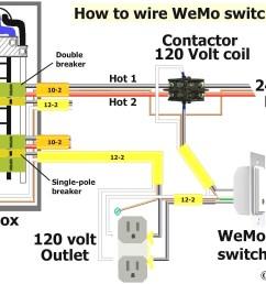 110 volt single pole contactor wiring diagram [ 2034 x 1328 Pixel ]