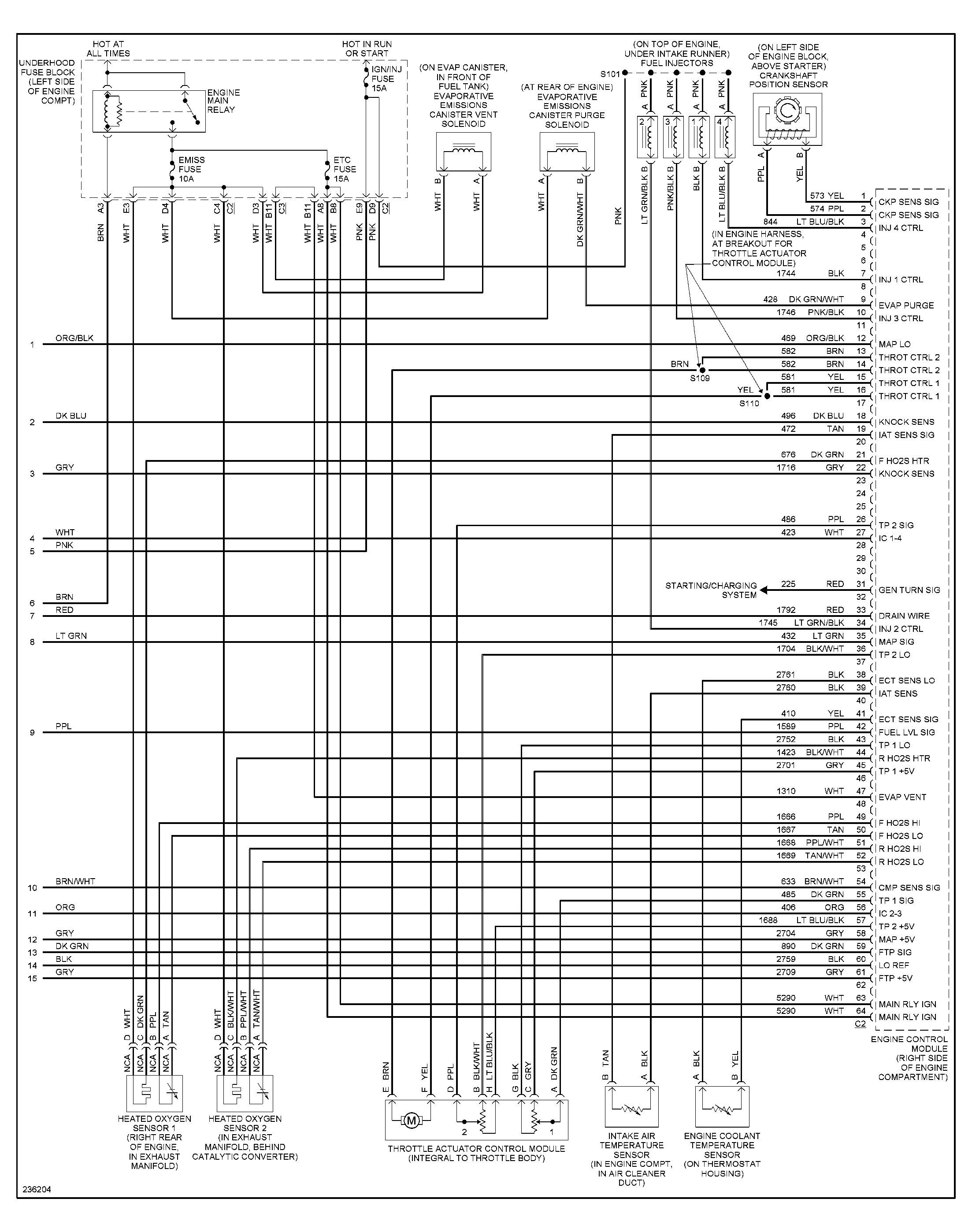 Engine Diagram For 2004 Saturn Vue 3 5