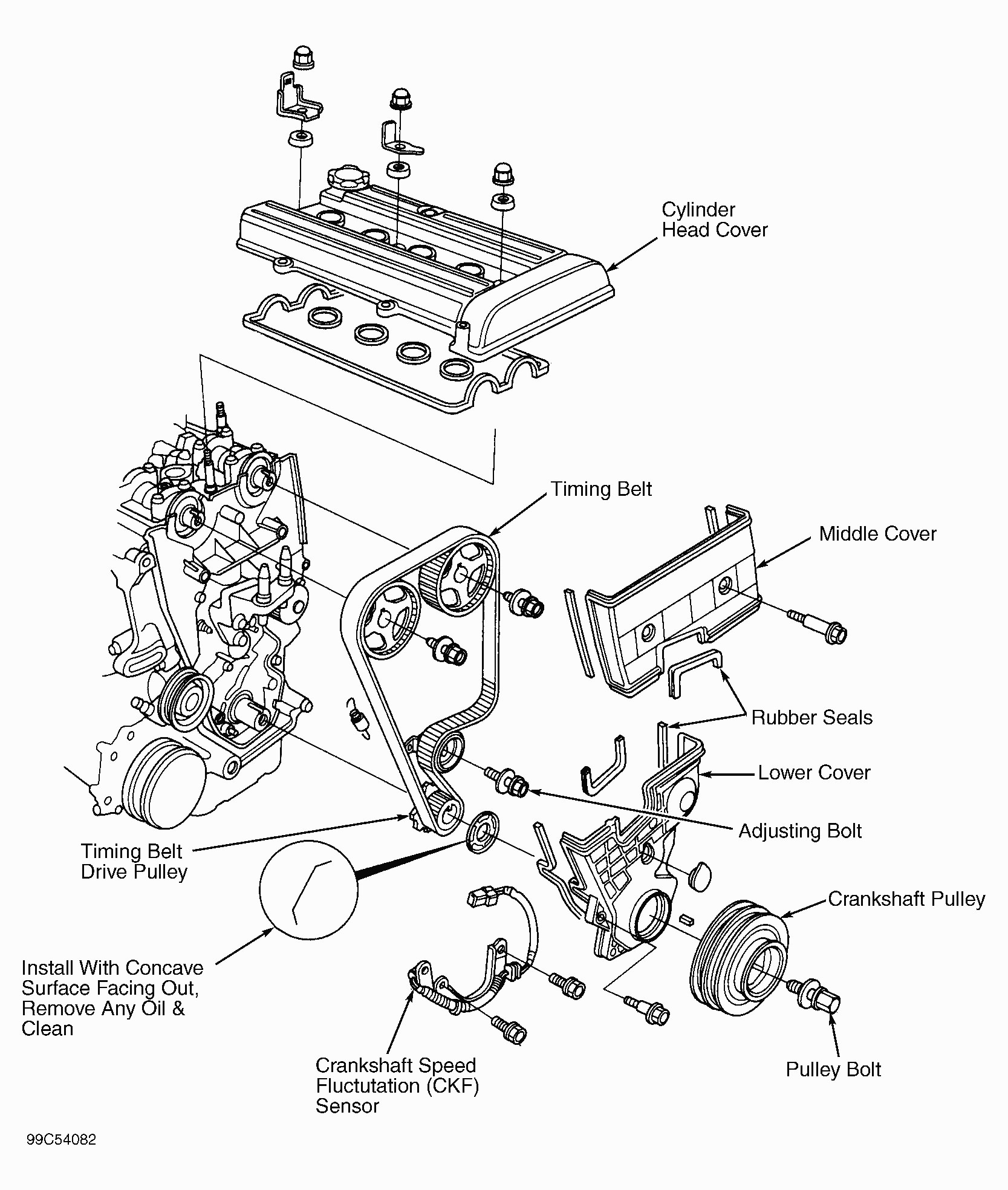 Honda Crv Engine Parts Diagram