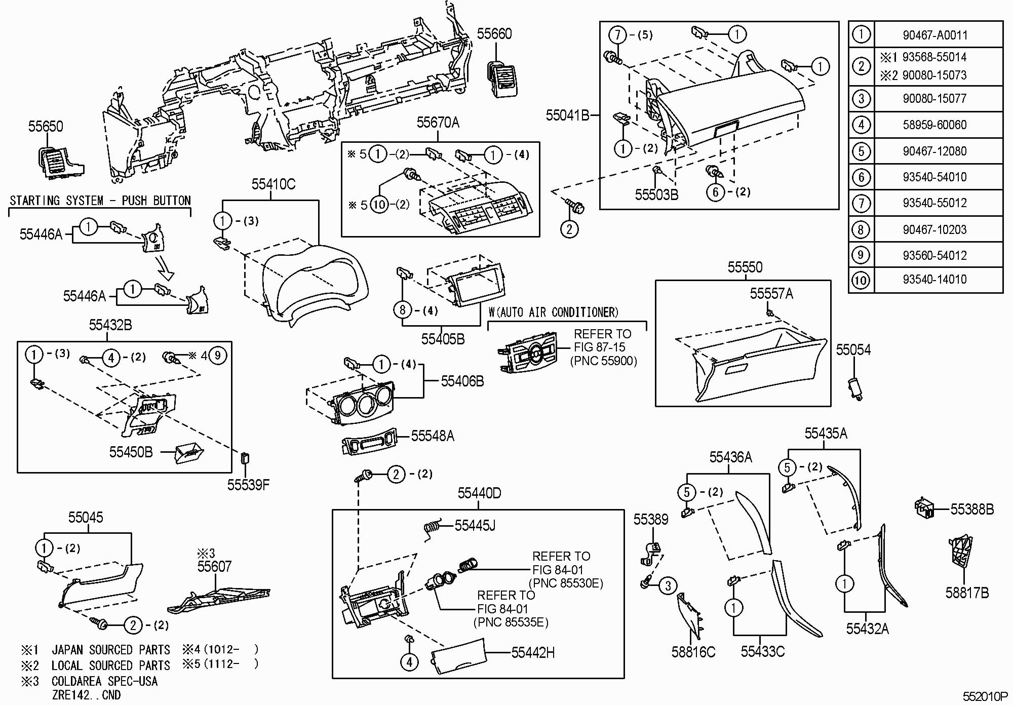 2004 toyota Sequoia Parts Diagram 2004 toyota Tundra