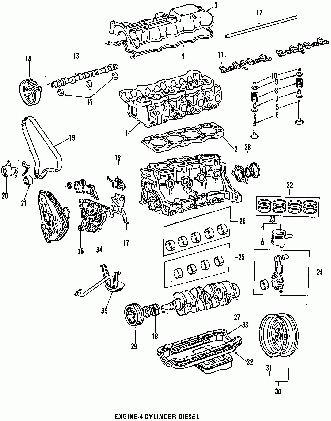 2005 toyota Tacoma Engine Diagram 1986 toyota 4runner