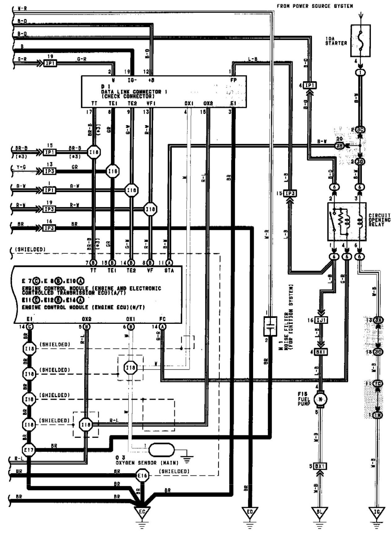 Wiring Diagram 1996 Toyota Camry Le Precision Fuel Pump