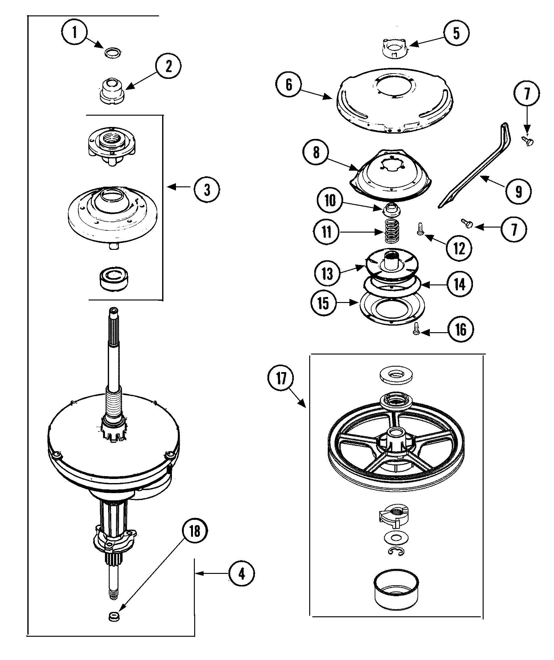 Admiral Washing Machine Parts Diagram Maytag Model