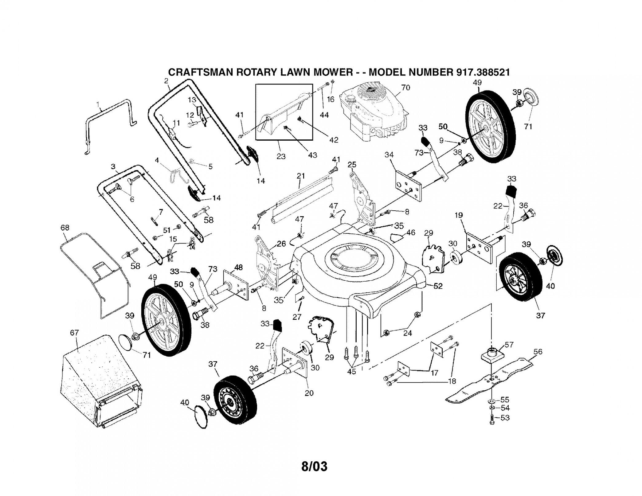 Briggs And Stratton Lawn Mower Parts Diagram