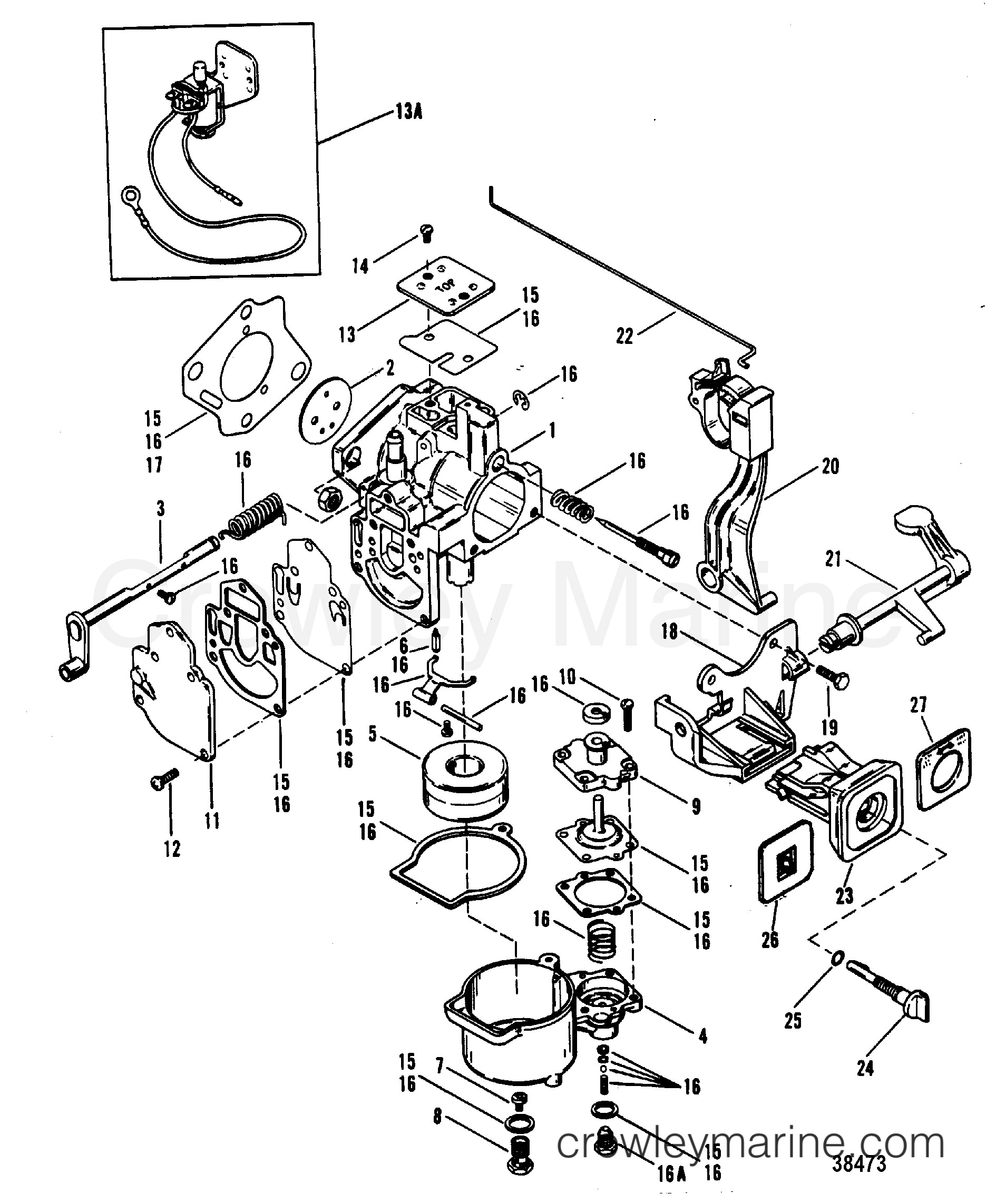 Mercury Outboard Engine Diagram Carburetor Wmc 9 10 11 12