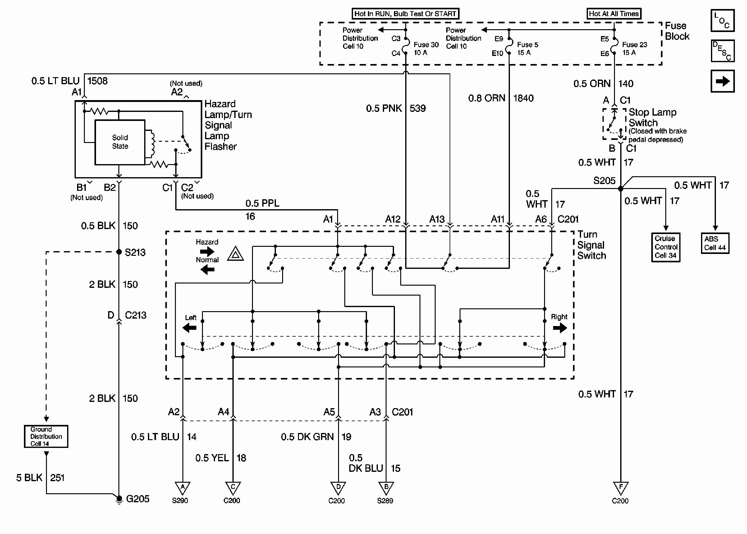 Turn Signal Brake Light Wiring Diagram Chevy Turn Signal