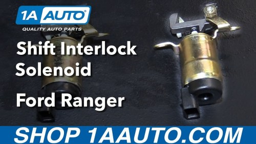 small resolution of 1995 ford ranger rear brake assembly diagram how to install replace shift interlock solenoid 1995 09