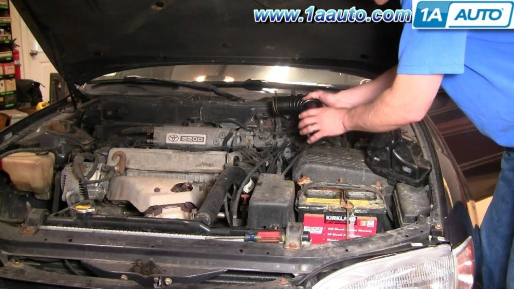 medium resolution of 2003 toyota rav4 engine diagram how to install replace engine air intake hose toyota camry 2