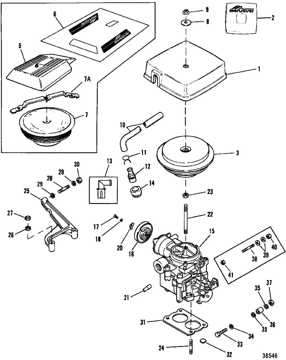 medium resolution of 350 mercruiser engine diagram carburetor throttle linkage 2 barrel for mercruiser 200 5 0l lx 260