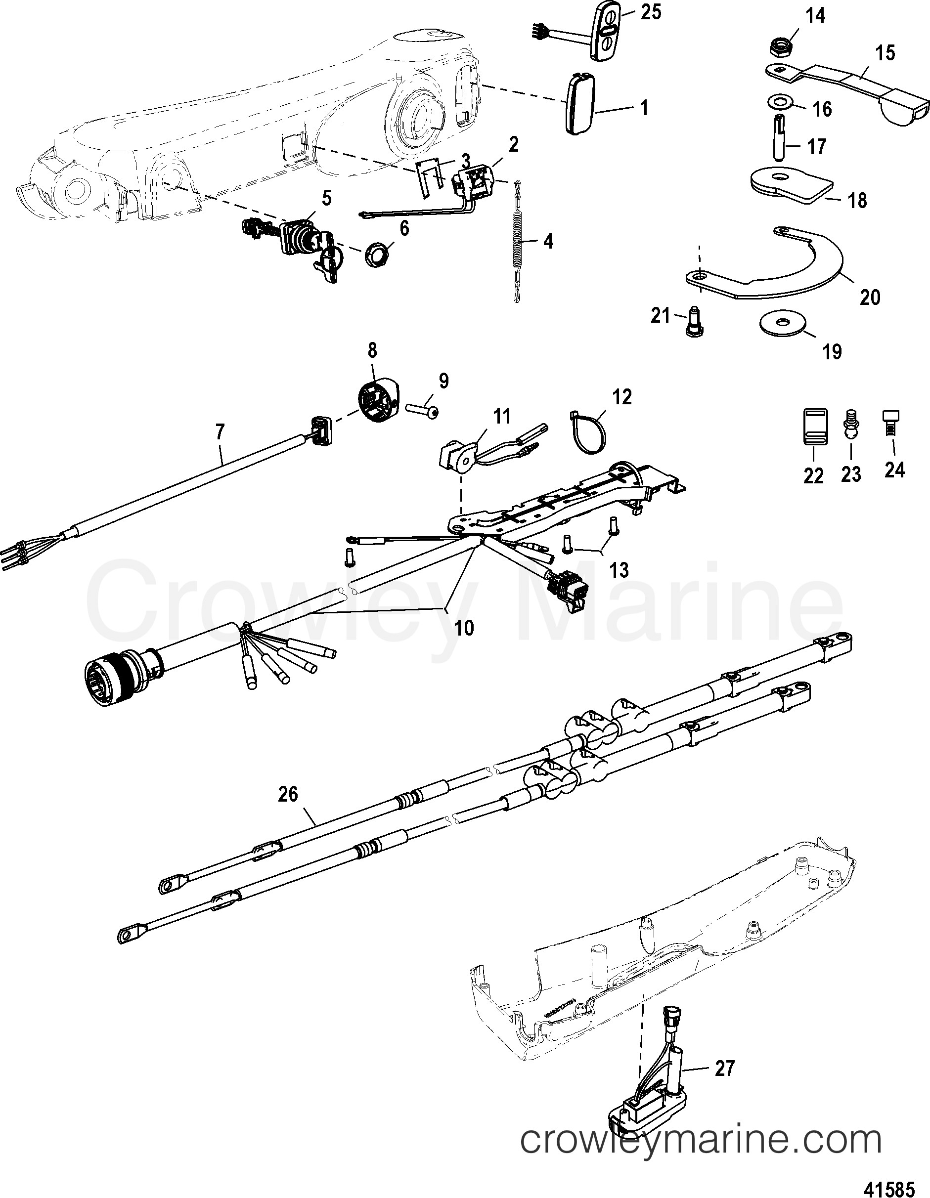 4 Stroke Engine Diagram Parts Mercury Mercury 25 4 Stroke
