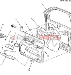 car body parts diagram esaabparts saab 9 7x car body internal parts door parts [ 1486 x 1325 Pixel ]