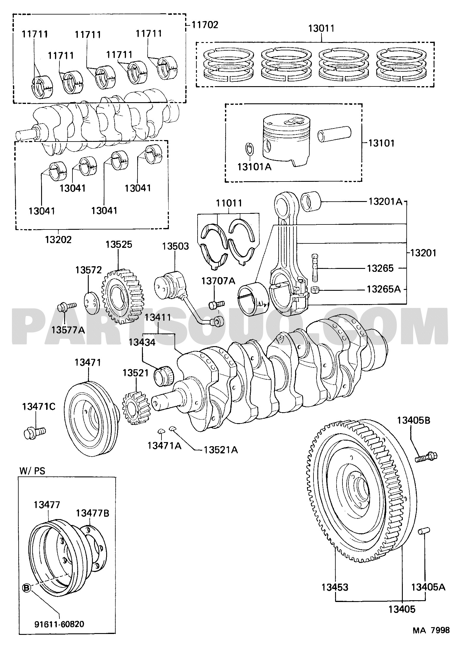 Car Engine Diagram Piston Subaru Oem 04 14 Impreza Engine