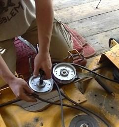 cub cadet zero turn parts diagram cub cadet ltx1050 bad idler pulley and spring tip trick [ 1280 x 720 Pixel ]