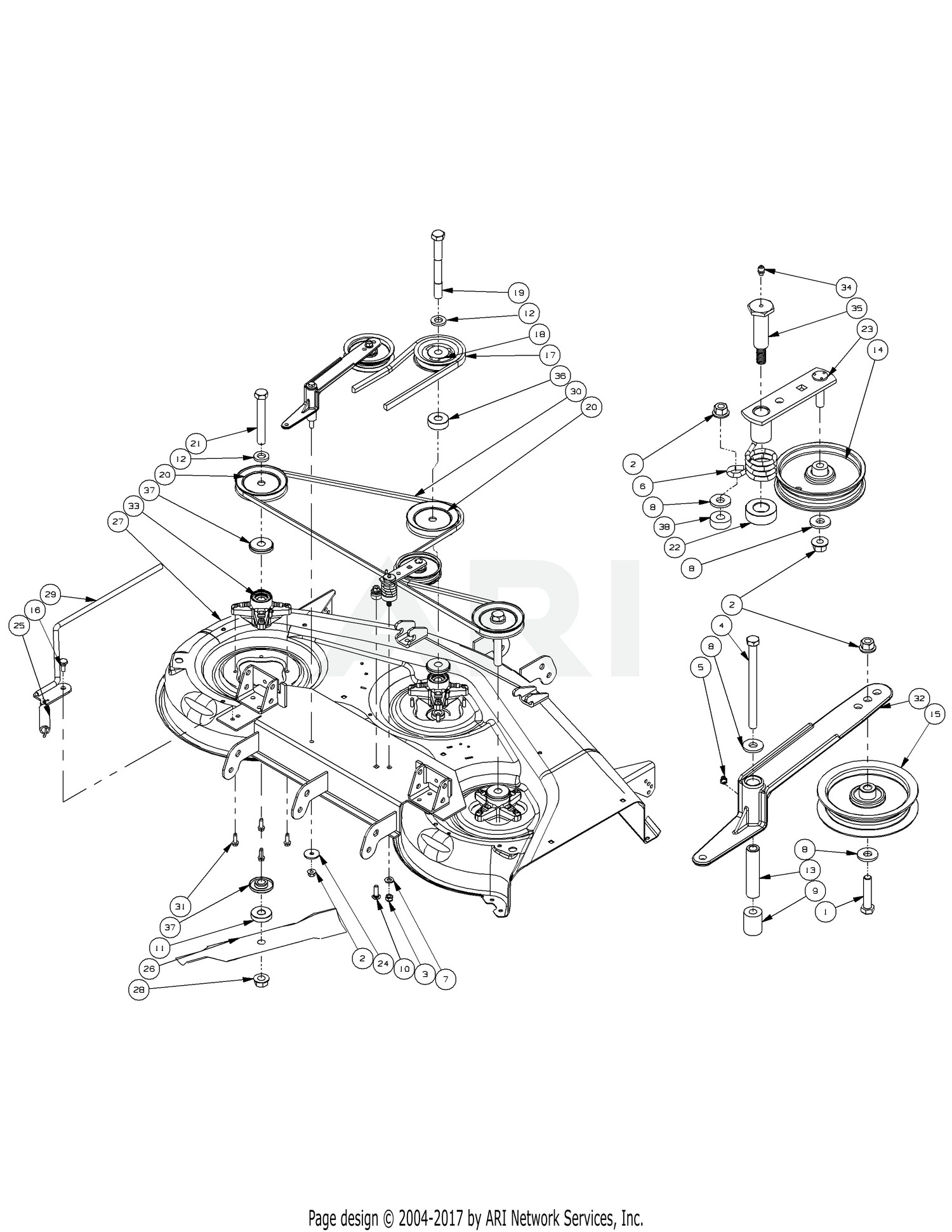 Cub Cadet Zero Turn Parts Diagram Cub Cadet Rzt 50