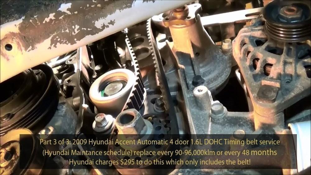 medium resolution of dohc engine diagram 2009 hyundai accent 1 6l gls dohc timing belt service part 3 of