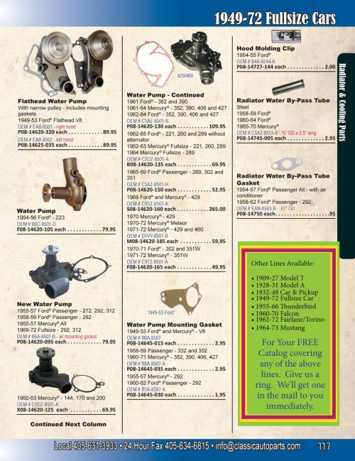 small resolution of ford oem parts diagram fullsize ford mercury page 117 radiator cooling parts of ford oem
