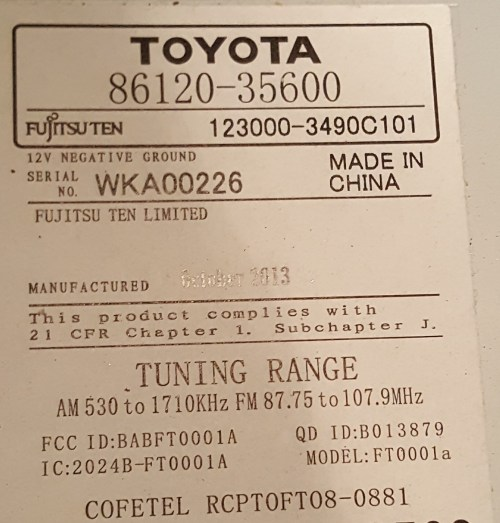 small resolution of toyota 86120 0c030 wiring diagram online wiring diagram fujitsu ten wiring diagram toyota wiring diagram