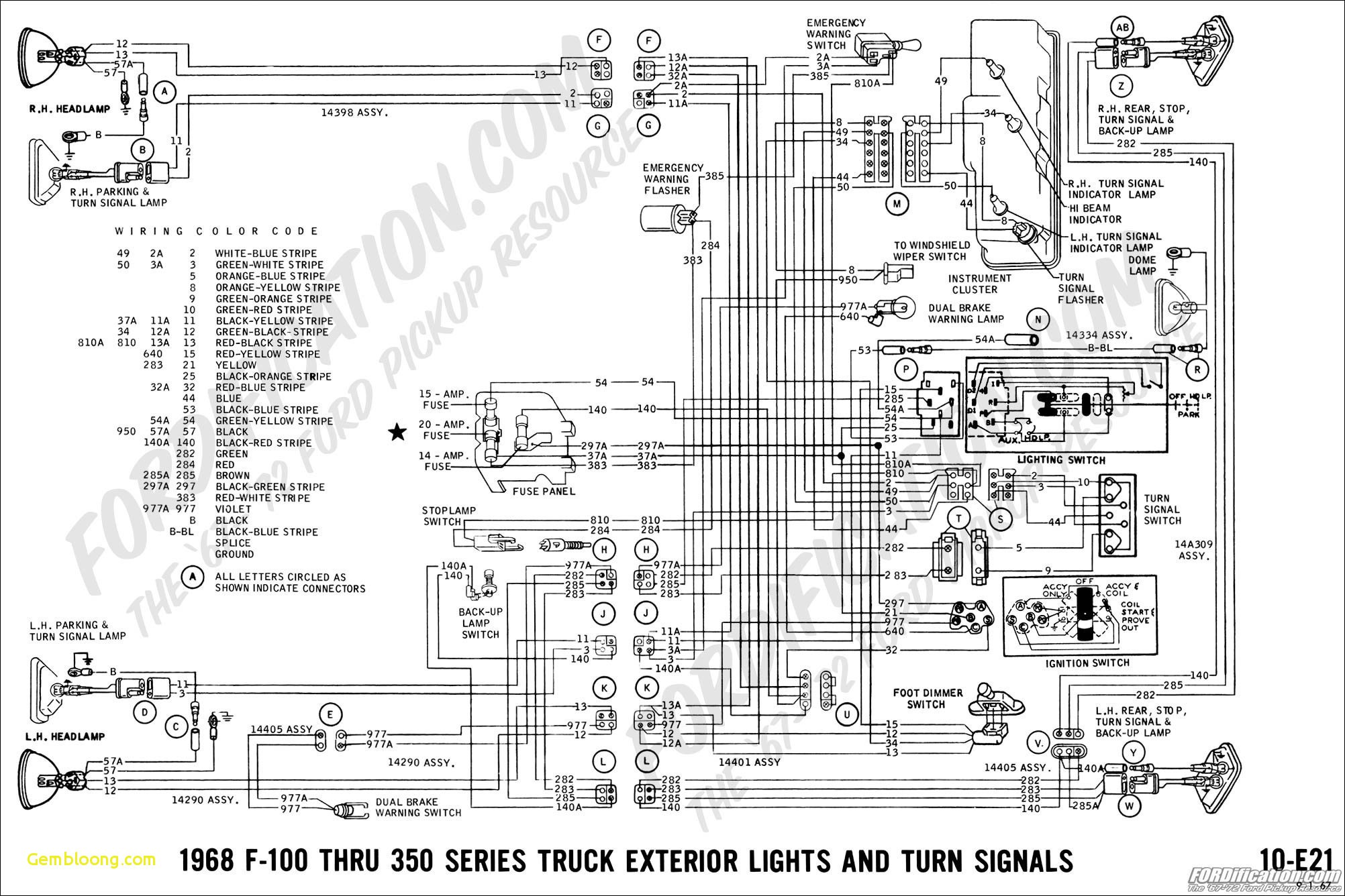 1965 Ford F 100 Instrument Panel Wiring Schematic Diagram Data 1970 Mustang Truck Turn Signal Diagrama De Cableado Auto Electrical