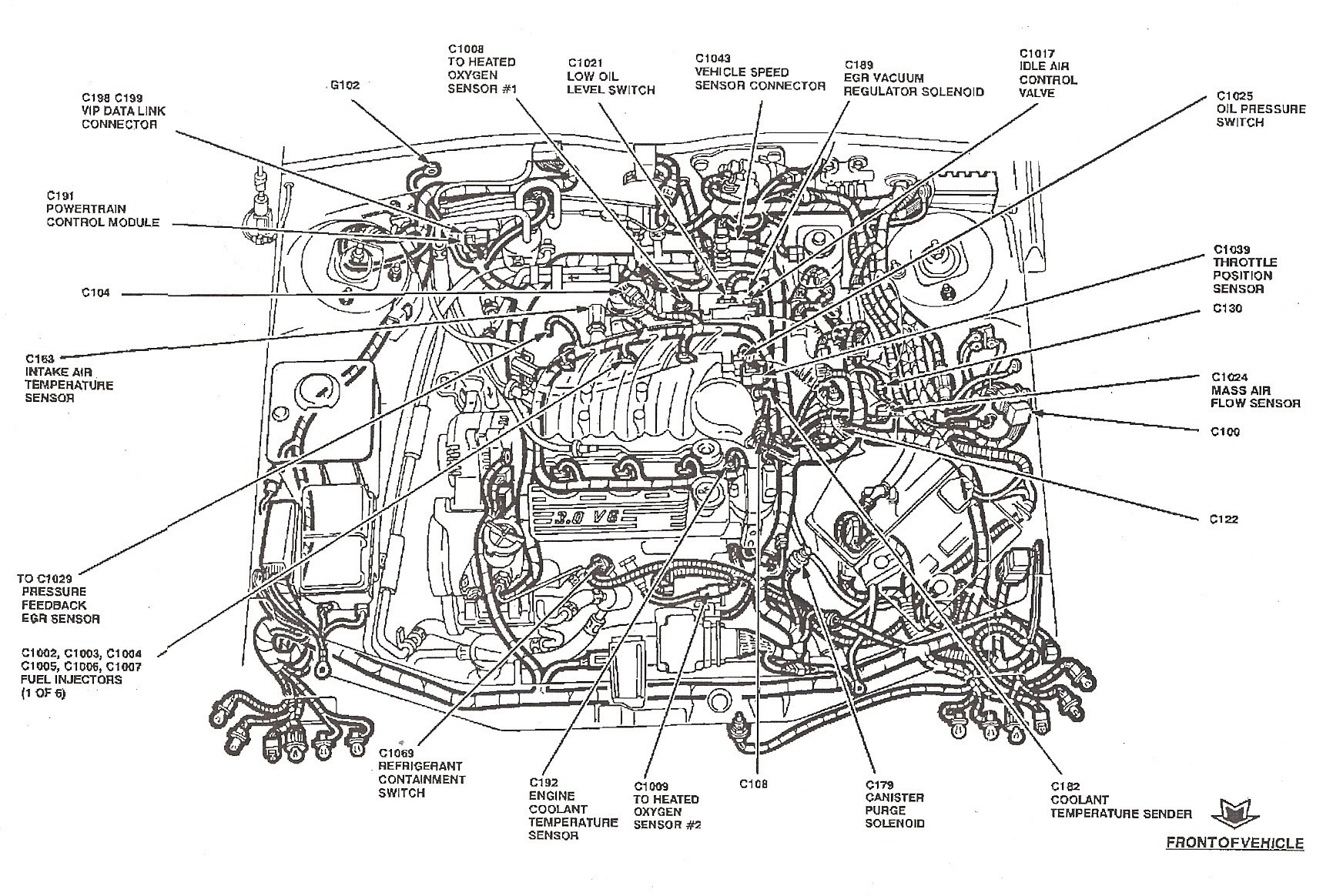 2005 Ford Freestyle Engine Diagram