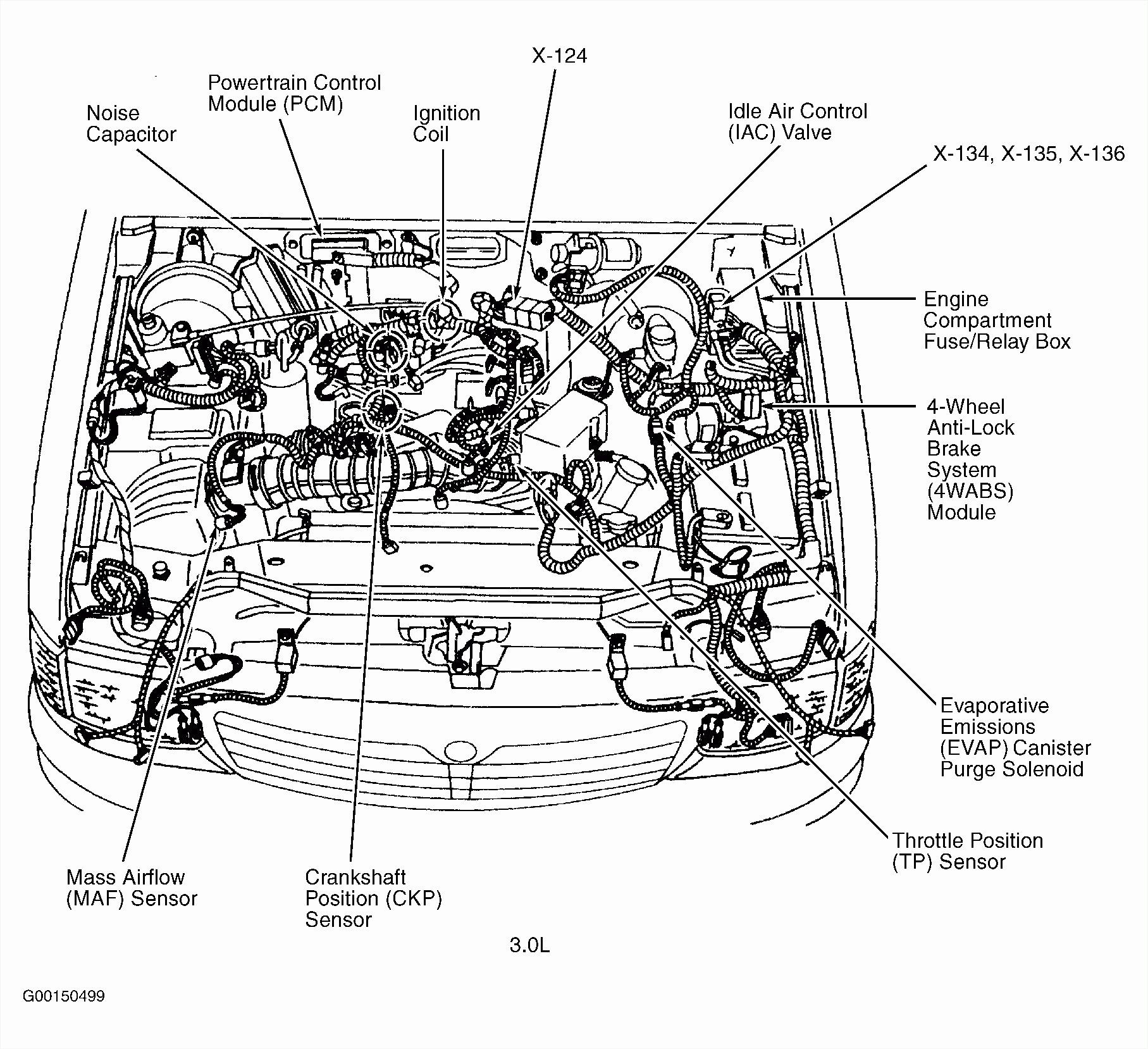 Ford Taurus Engine Fuse Box Diagram