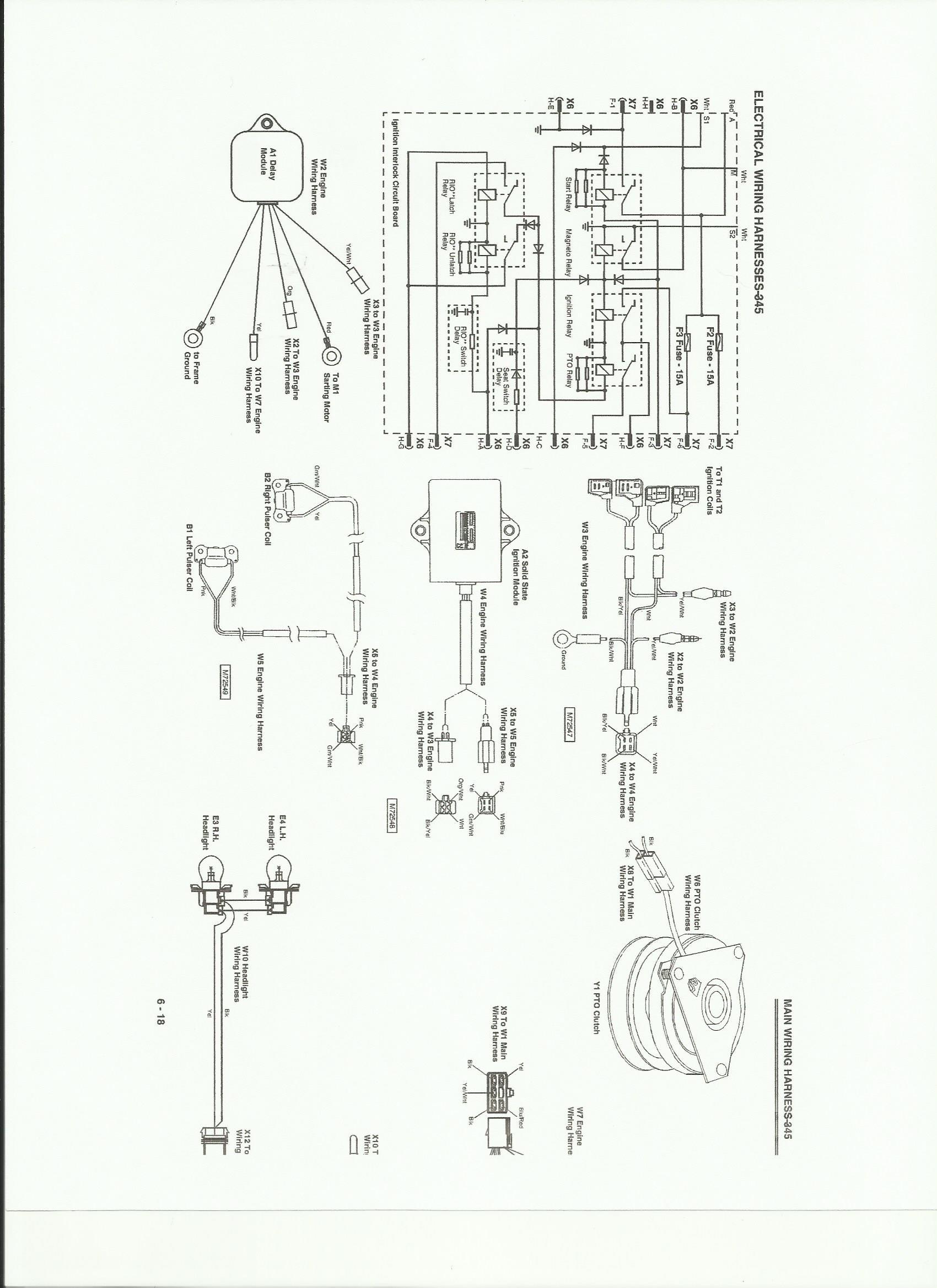 Electrical Schematic 345 John Deere Tractor