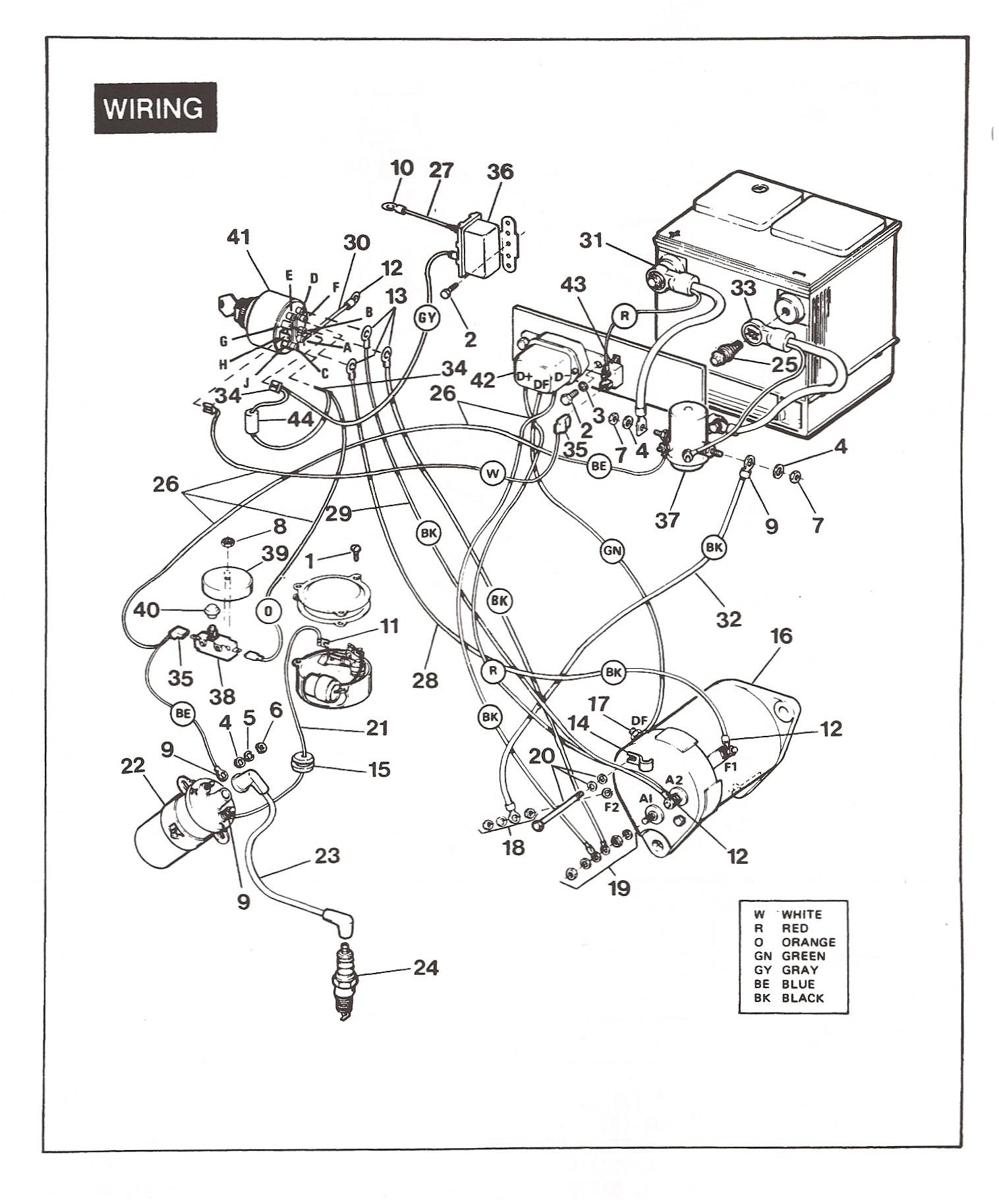 Ezgo Gas Engine Wiring