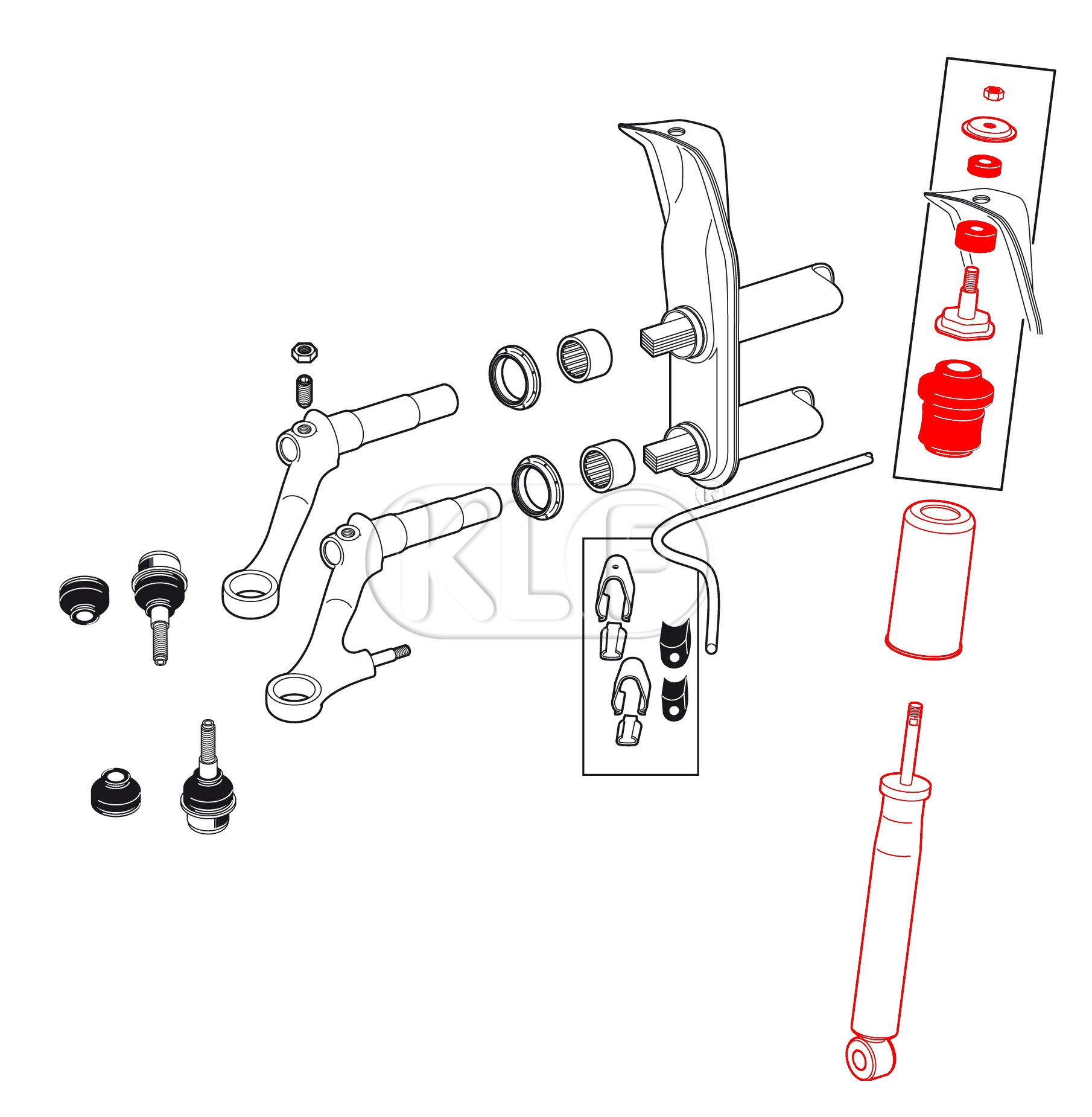 Shock Absorbers Diagram Kenmore Washer Parts