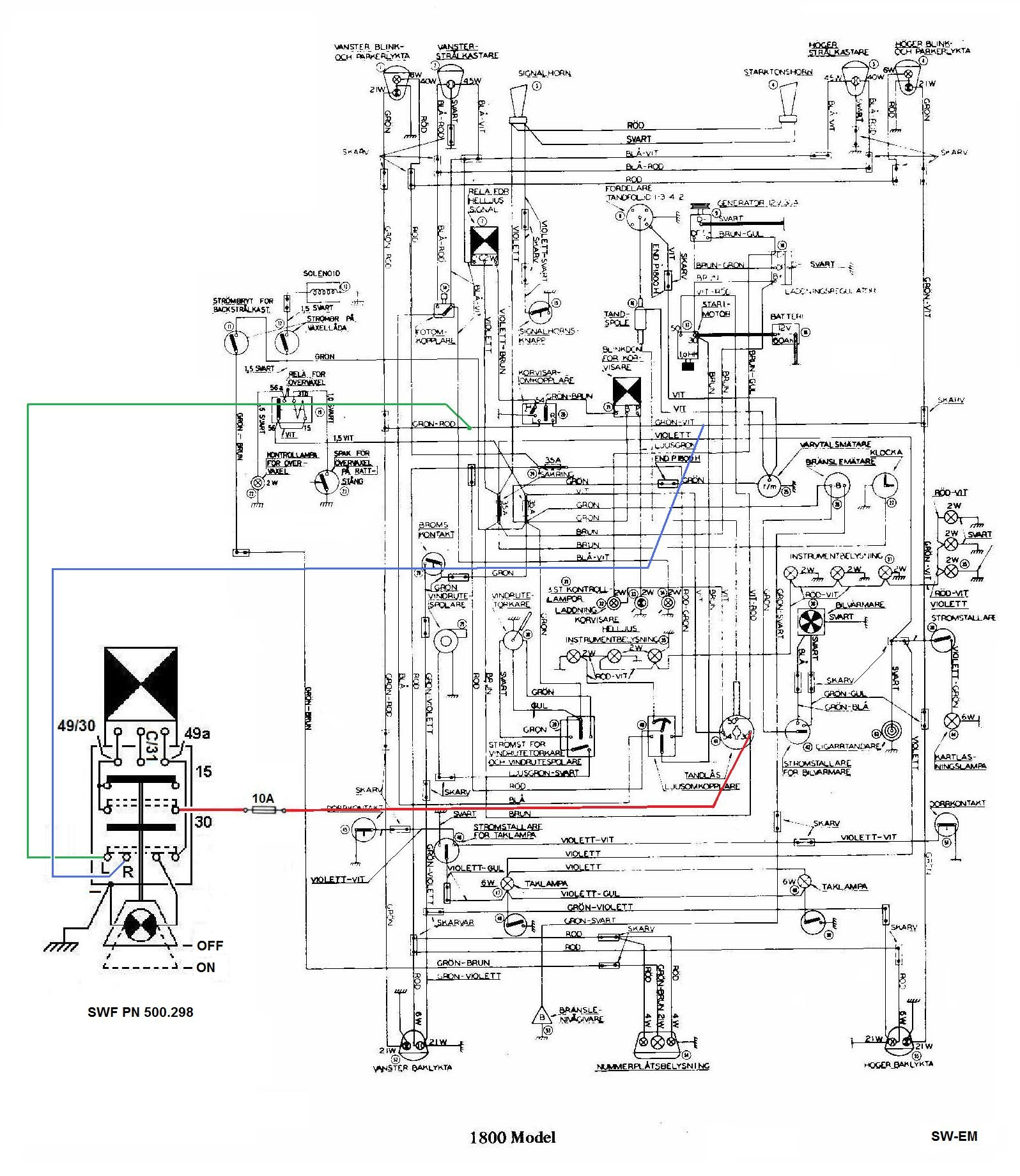 Turn Signal Flasher Schematic Sw Em Emergency Flasher