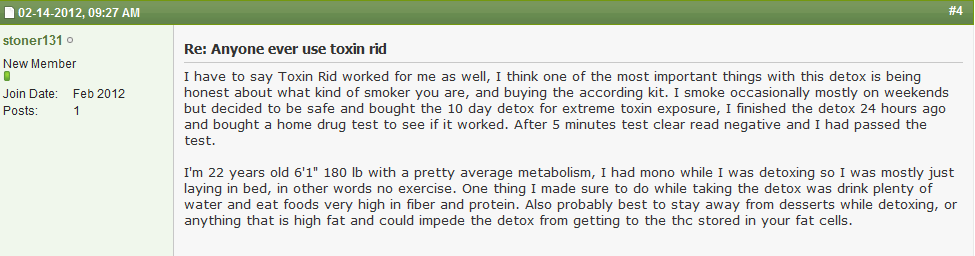 420 Magazine 10 Day Toxin Rid Detox Feedback