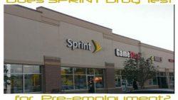 Does Sprint Drug Test for Pre-employment?