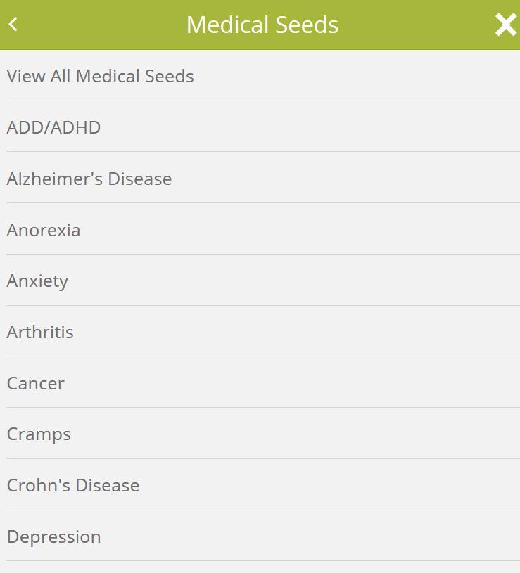 Seedsman Seeds medical marijuana seeds menu