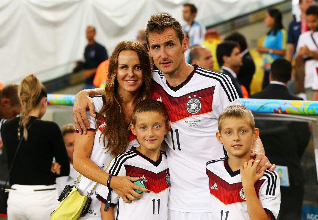 Miroslav Klose with wife Sylwia Klose (Photo by Martin Rose/Getty Images)