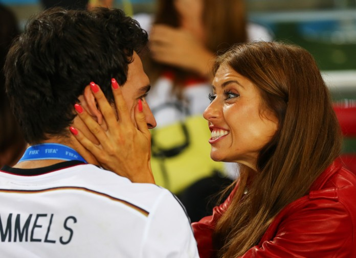 Mats Hummels with girlfriend Cathy Fischer (Photo by Martin Rose/Getty Images)