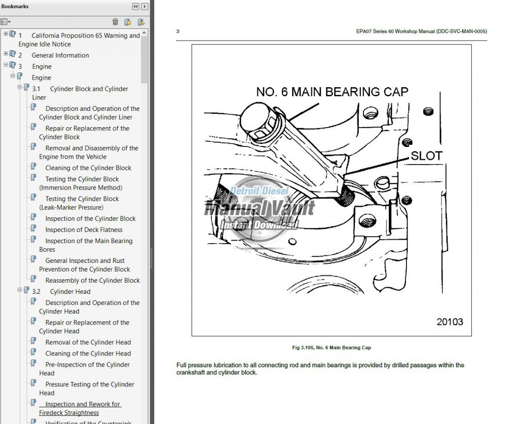 Detroit Diesel Series 60 EPA07 Engine Service Manual PDF