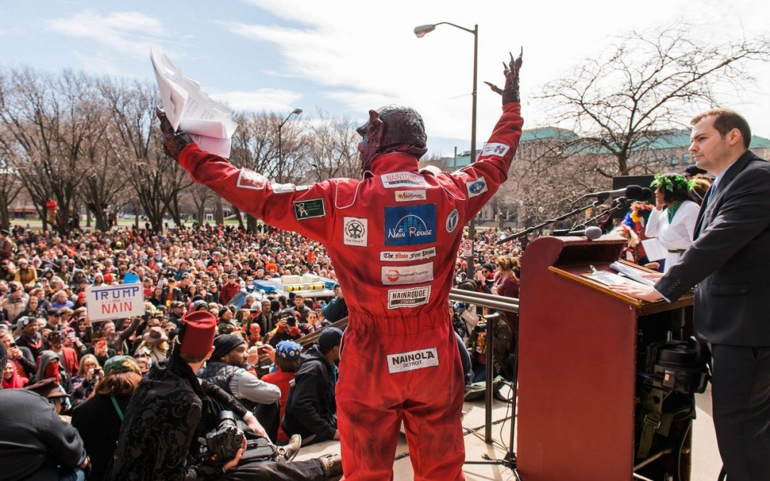 Exclusive Interview: FRANCIS GRUNOW, co-creator of the annual Marche du Nain Rouge, Detroit's Mardi Gras Parade!