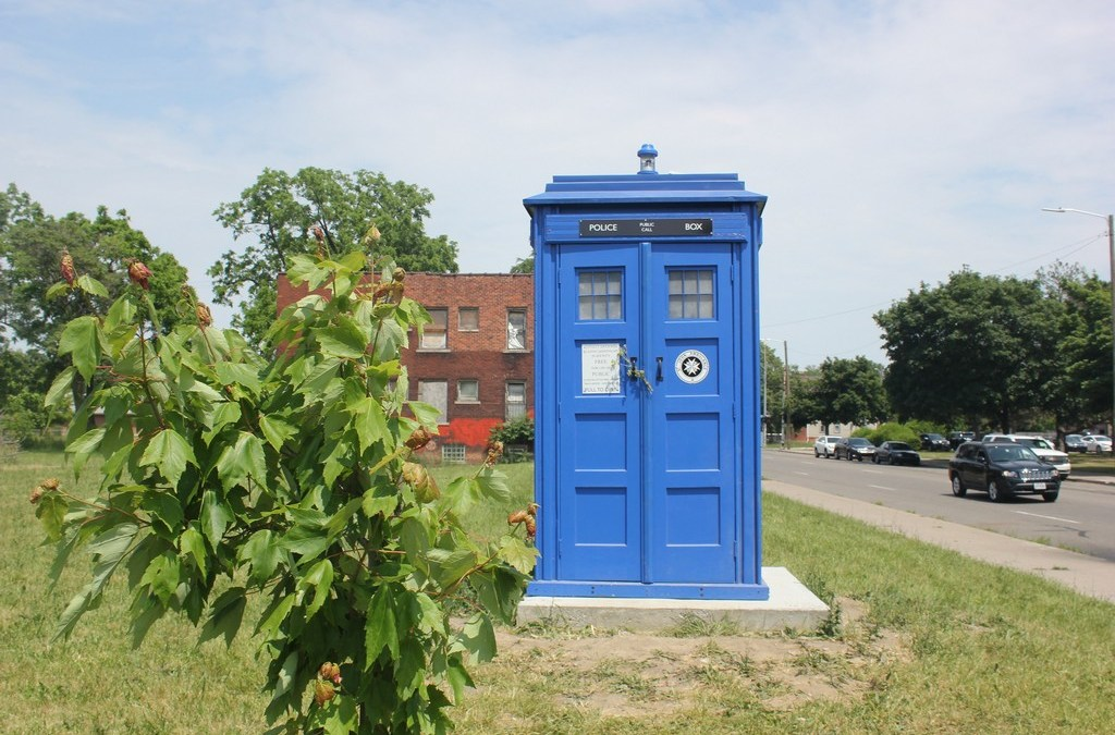 The TARDIS has landed in Woodbridge!