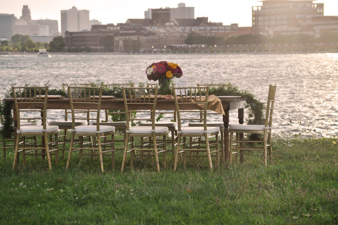 Detroit Chiavari Chairs Farm Tables