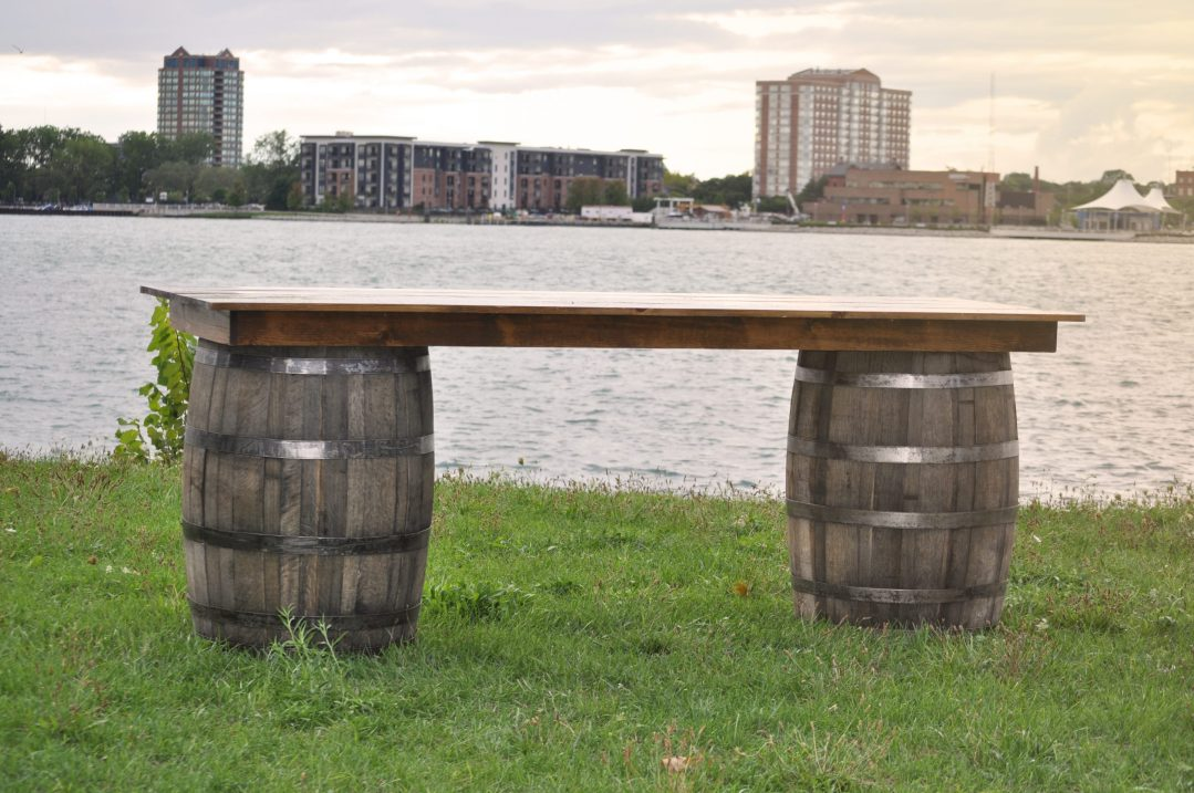 Detroit Chiavari Whiskey Barrel Bar