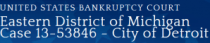 US Bankruptcy Court-Detroit Case partial masthead