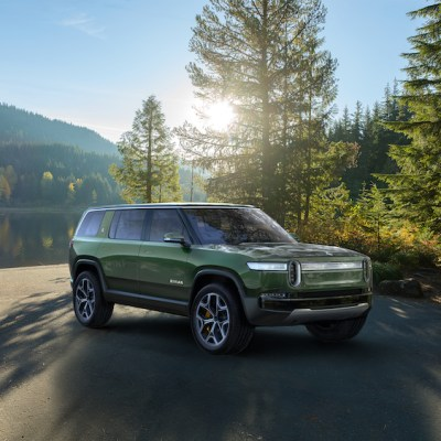 Designed in Detroit, Rivian pickup, SUV plug in for adventure